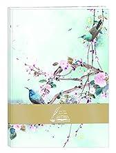 Clairefontaine 115590C - Libro de visitas rembordeado rígido Sakura Dream 160 páginas 14,8 x 21 cm lisas blancas, tapa de piel sintética