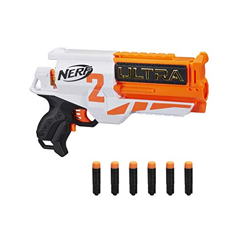 NERF Ultra Two Motorized Blaster -- Fast-Back Reloading -- Includes 6 Ultra Darts -- Compatible Only Ultra Darts