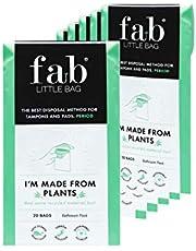 Fab Little Bag Worki sanitarne - zapobiega powstawaniu nieprzyjemnych zapachów, bez bałaganu, przyjazne dla środowiska, zamykane, przyjazne w podróży - opakowanie 125 worków, The Sixer