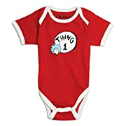 Bumkins Dr. Seuss by Bumkins Classic Short Sleeve Bodysuit-Thing 1, 6 Months