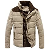 Allywit Men's Warm Winter Jacket Cotton Sports Quilted Coat Outerwear Big and Tall