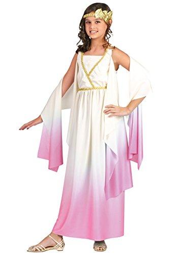 Fun World Little Girl's Lrg/athenus/pinkombrechld Cstm Childrens Costume, multi color, (Roman Goddess Costumes Halloween)