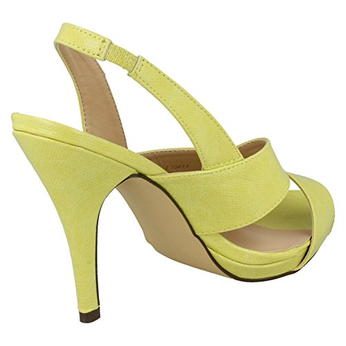 Ladies Anne Michelle Heeled Sling Back Sandals Yellow Size 3 AtrYCV