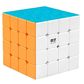 Coogam Qiyi 4x4 Speed Cube Stickerless Magic Puzzle Toy Gift for Kids and Adults Challenge (Qiyuan S Version)