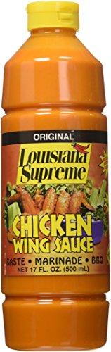 Louisiana Supreme Chicken Wing Sauce 17 oz (3-pack)