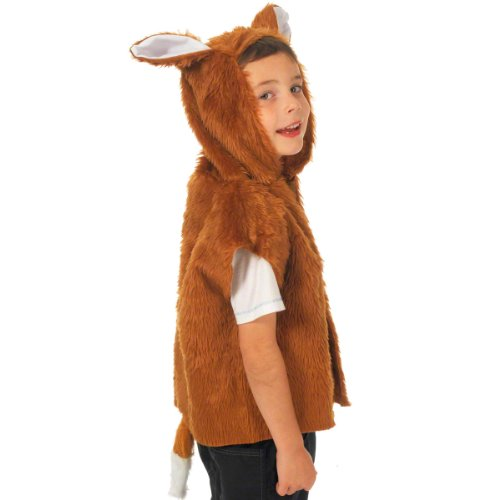 Charlie Crow Fox Costume for Kids one Size 3-8 Years Brown -