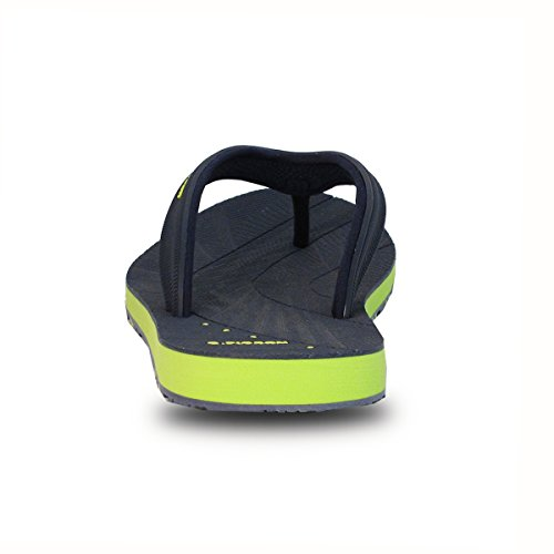 Gold Pigeon Shoes GP5842 Men Women Light Weight High Bounce Comfort Outdoor Water Flip Flops 7557 Navy Neon Green-non Perforated Aav36hYA