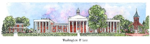 Washington & Lee - Collegiate Sculptured Ornament by Sculptured Watercolor Ornaments