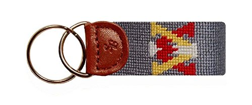 Virginia Military Institute Key Fob in Grey by Smathers & Branson