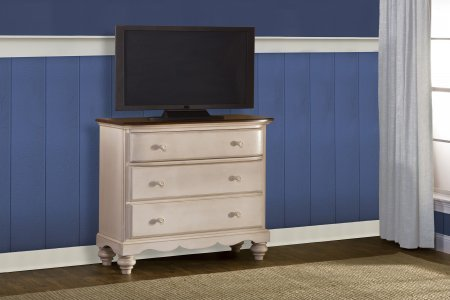 Pine Island TV Chest - Old White by Hillsdale Furniture