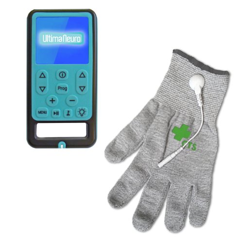 Ultima Neuro Neuropathy Treatment System for Relief of Peripheral, Diabetic & Poly Neuropathy Nerve Pain with Conductive Glove (M-L) by Ultima Neuro & Conductive Therapy Shop