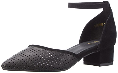 Simone a T Black Shoe Nero Cinturino col Scarpe Tacco con rack 110 Donna 5wxxqf4Fg