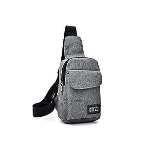 Docooler Portable Travel Bag Canvas Chest Bag Casual Crossbody Shoulder Bag Rucksacks for Men Women