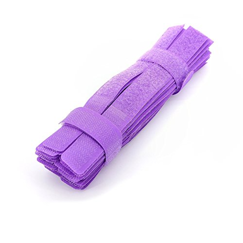 Pasow 50pcs Cable Ties Reusable Fastening Wire Organizer Cord Rope Holder 7 Inch (Purple)
