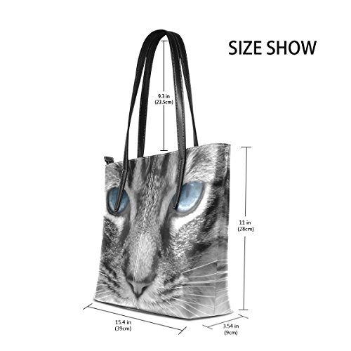 Handle Women's Shoulder Top Big Bennigiry Tote Large Black Bags Purse Satchel Cat Handbags zgxXxdq
