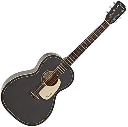 Hartwood Villanelle Parlour Acoustic Guitar Satin Black