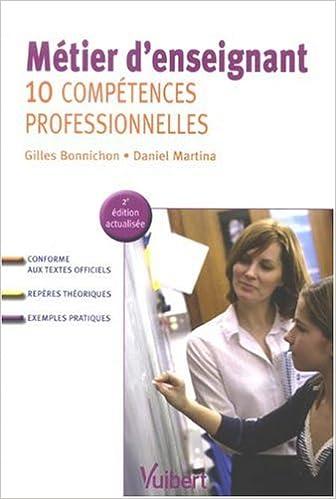 Livres Métier d'enseignant : 10 Compétences professionnelles pdf epub