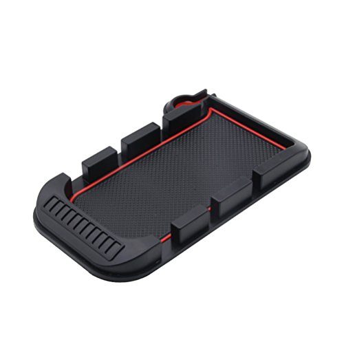 WINOMO Universal Car Dashboard Anti Slip Mat Non-slip Pad Charging for Android iPhone Smart Mobile Phone Parking GPS Holders (Black and Red) by WINOMO