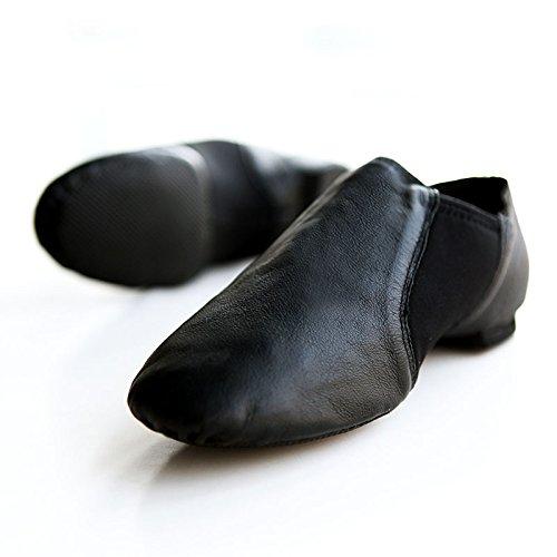 SQIAO-X- Scarpe da ballo in pelle fondo morbido Jazz Scarpe da danza jazz Scarpe e Calzature Donna figli adulti insegnanti esercizio scarpe ,38(24cm), marrone