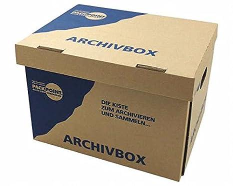 braun Archivschachtel Transportboxe Archivkarton Archivbox A4 für Ordner etc