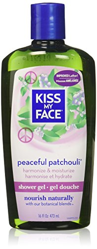 Total Wash Face - Kiss My Face: Bath & Shower Gel, Peaceful Patchouli 16 oz