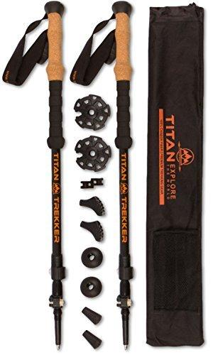 Carbon Fiber Trekking Poles collapsible Lightweight Hiking Stick | Premium Trekking Pole Walking Sticks for Women & Hiking Poles for Men