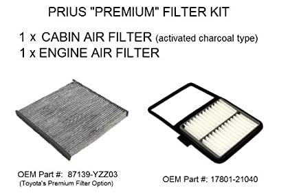 Amazon Com Prius Premium Filter Kit Engine Air Filter And Carbon