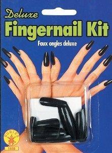 (Rubie's Costume Co Dlx Fingernail Kit-Blk)
