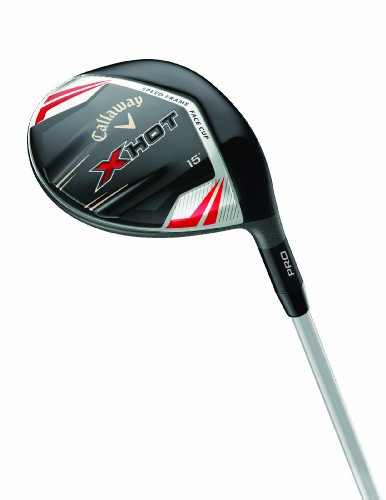 Callaway X Hot Pro Fairway Wood (Left Hand, Graphite, 15 Loft, 5.5 Flex)
