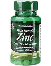 Holland & Barrett High Strength Zinc Tablets, 15mg, 100 count