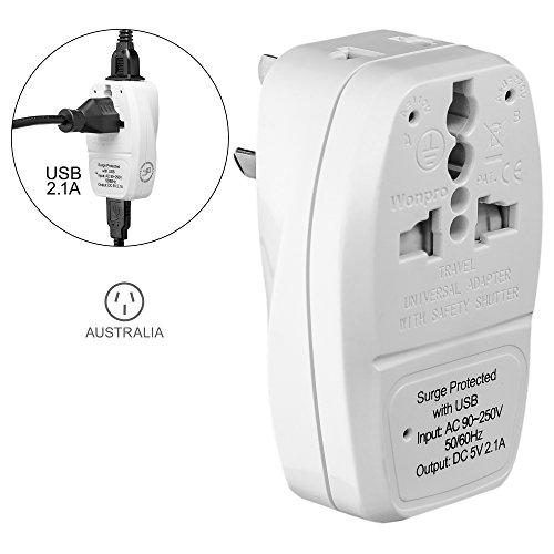 Yubi Power 3 in 1 Universal Travel Adapter with 2 Universal