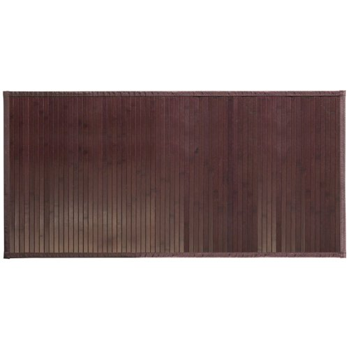 "InterDesign Bamboo Floor Mat – Ideal Mat for Kitchens, Bathrooms or Offices - 24"" x 48"", Mocha Brown Microfiber Club Chair"