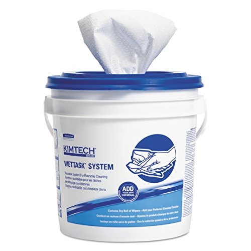 Kimtech 06471 Wipers for Bleach Disinfectants Sanitizers, 12 x 12 1/2, 90 per Roll (Case of 6)