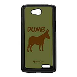 Sassy - Dumb Ass 10094 Black Hard Plastic Case for LG L70 by Sassy Slang + FREE Crystal Clear Screen Protector