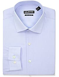Men's Unlisted Slim Fit Stripe Spread Collar Dress Shirt