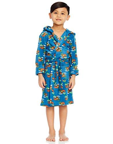 Leveret Fleece Sleep Robe Dinosaur Boy 8 Years