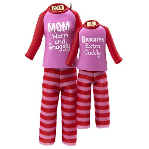Hallmark Keepsake Ornament 2019 Year Dated Mom and Daughter Matching Christmas Pajamas, Fabric, (Best Christmas Pajamas 2019)