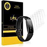 LK [6 Pack] Screen Protector for Fitbit Inspire/Inspire HR, [Max Coverage][Bubble-Free] HD Clear Flexible Film with Lifetime Replacement Warranty