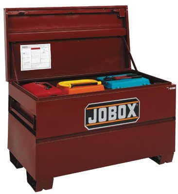 Jobox 48in. Heavy-Duty Steel Chest - Site-Vault Security System, 15.4 Cu. Ft., 48in.W x 24in.D x 27 3/4in.H, Model# 1-654990 - Vault Chest