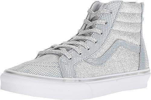 Vans Kids Sk8-Hi Zip (Little Kid/Big Kid) Metallic Glitter Girl's Sneaker (4.5 M US Big Kid, - Kids Vans High Top