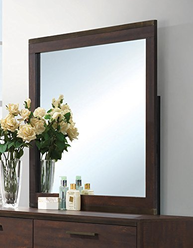 Coaster Home Furnishings 204354 Dresser Mirror, Rustic Tobacco/Dark Bronze