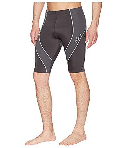 CW-X Men's Endurance Pro Shorts, Charcoal/Charcoal/Silver, Small by CW-X (Image #9)