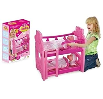 Baby Doll Pink Bunk Bed For Up To 18 Xmas Gift Toy Amazon Co Uk