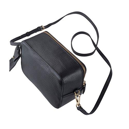 donna Bag con Tracolla DUDU Pelle Mini zip Cerniera Piccola e morbida Borsa in regolabile Nero wqS4REC