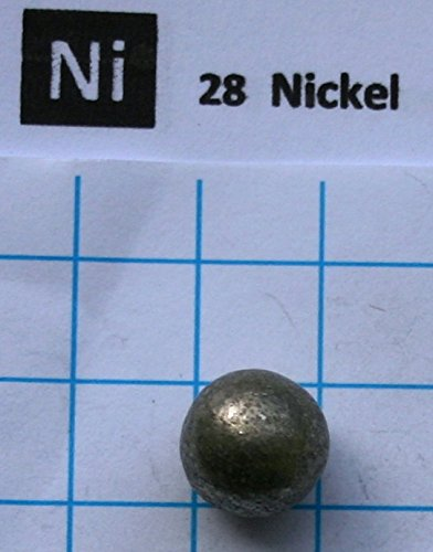 7 gram 99.9% Nickel Metal Sphere - Pure Element 28 Sample - Free Shipping Snaucke Elements
