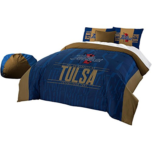 The Northwest Company Officially Licensed NCAA Tulsa Golden Hurricane Modern Take Full/Queen Comforter and 2 Sham Set