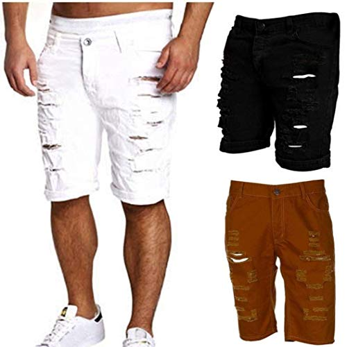 Stretch Cher Summer Shorts Pants Jeans Likes E Holes Entrenamiento Denim Slim Skinny Jeans Pantalones De Negro Pants Mens Fashion Fit Casual qqX78w