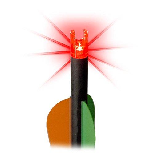 Red Hot 38-3368 Nock Illuminated, Red, Powered By Lumenok, 3-Pack