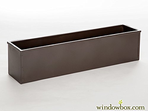 72'' Bronze-tone Metal Window Box Liner by Windowbox