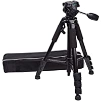 G-raphy 58inch Flexible Aluminum Camera Tripod with Three Dimensional Head for DSLR SLR Cameras